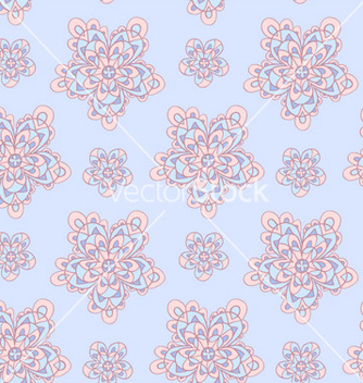 Free blue seamless floral pattern vector - Free vector #239833