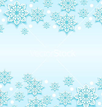Free abstract winter background with snowflakes vector - Free vector #239853