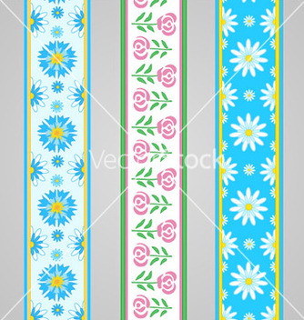 Free floral summer borders with roses vector - Free vector #239983