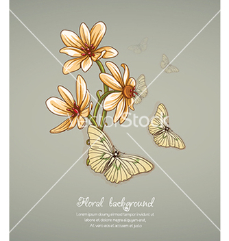 Free floral background vector - Free vector #240123