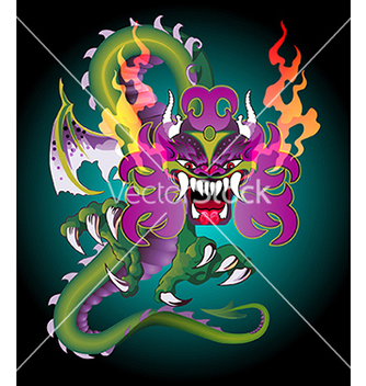 Free detailed dragon vector - vector gratuit #240213