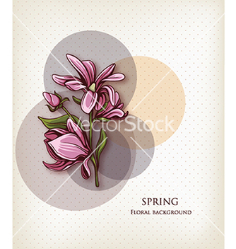 Free floral background vector - Free vector #240263