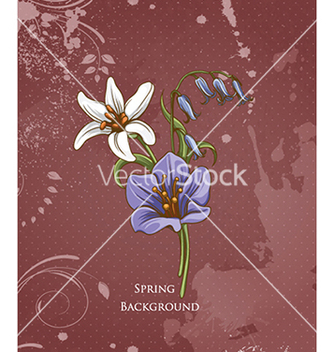Free floral background vector - Free vector #240353