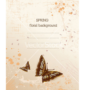 Free floral background vector - Free vector #240403