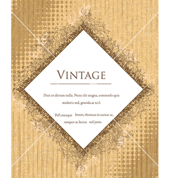Free vintage frame with floral vector - Free vector #240943