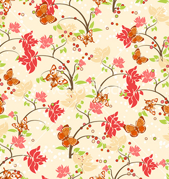 Free seamless floral background vector - Kostenloses vector #241083