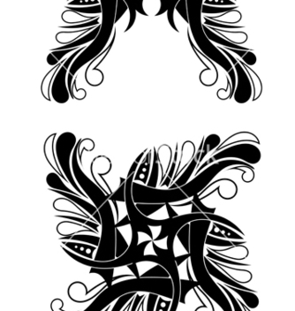 Free elegant blackwhite tribal tattoo design vector - Free vector #241153