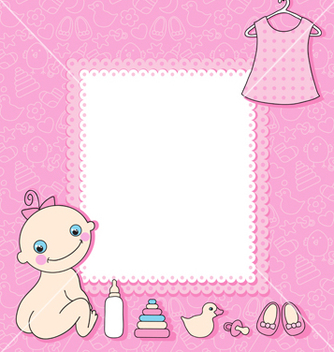 Free baby girl vector - Free vector #241623