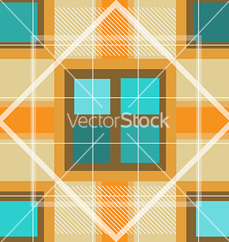 Free modern orange plaid pattern vector - Free vector #241803