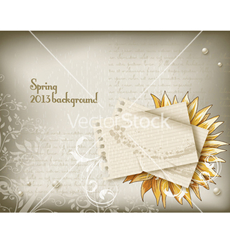 Free floral background vector - Free vector #241813