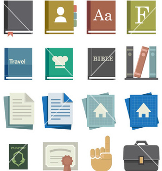 Free school work icons vector - Free vector #241973