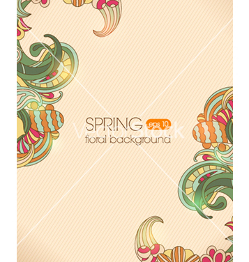 Free floral background vector - vector gratuit #242063