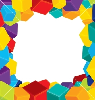 Free colorful border from cubes vector - vector gratuit #242233