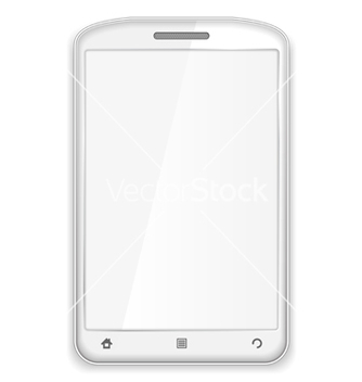 Free white smartphone vector - Free vector #242313