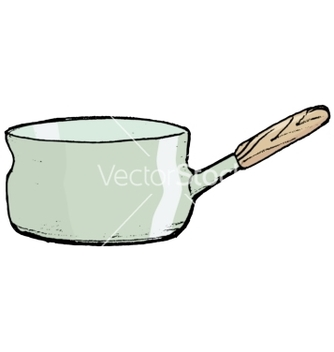 Free saucepan with handle vector - vector #242353 gratis