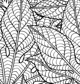 Free leaves seamless pattern vector - Kostenloses vector #242383