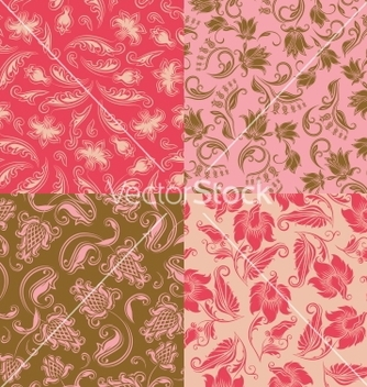 Free seamless floral pattern vector - Free vector #242403