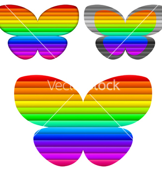 Free butterfly color set vector - Free vector #242513