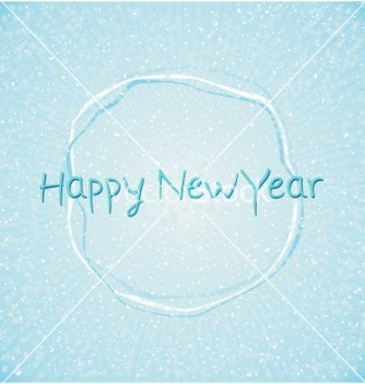 Free blue happy new year abstract background vector - Free vector #242533