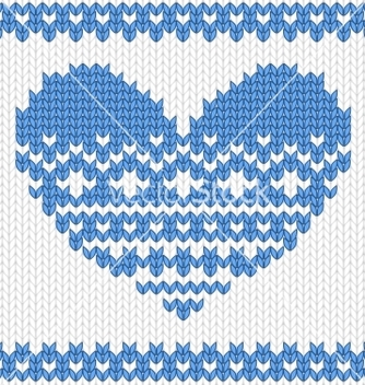 Free knitted heart vector - бесплатный vector #242563