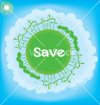 Free think green ecology concept vector - Free vector #242643