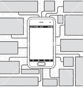 Free cellphone blueprint vector - vector gratuit #242743