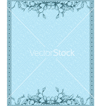 Free invitation with floral vector - Free vector #242773