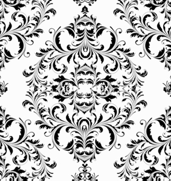 Free damask seamless pattern vector - vector gratuit #242823