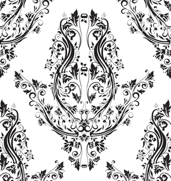 Free victorian seamless pattern vector - Kostenloses vector #242933