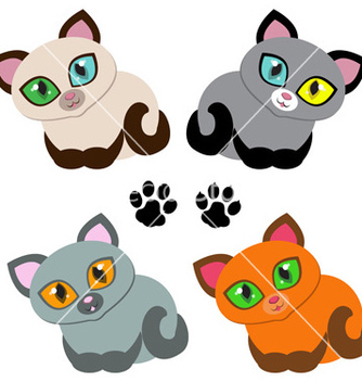 Free kitties vector - Free vector #242993