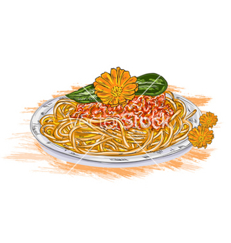Free spaghetti whith tomato sauce vector - Free vector #243203