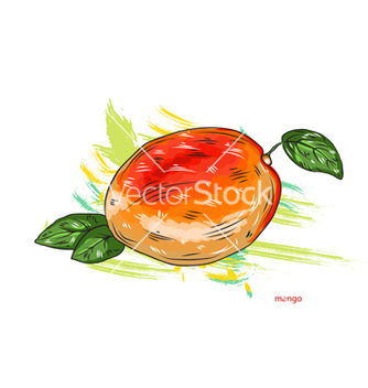 Free mango with colorful splashes vector - Kostenloses vector #243213