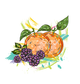 Free fruits with colorful splashes vector - vector gratuit #243233