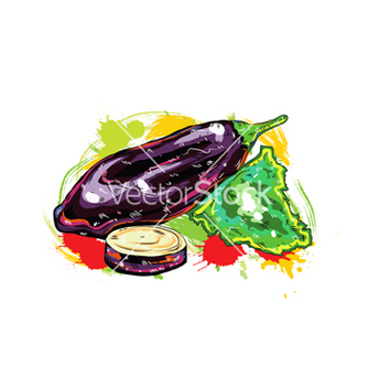 Free vegetables with grunge vector - Kostenloses vector #243323