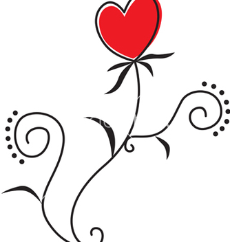 Free flower heart vector - бесплатный vector #243363
