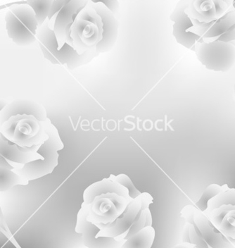 Free elegant background with roses vector - vector gratuit #243463
