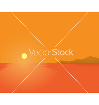 Free summer sunset vector - Kostenloses vector #243473