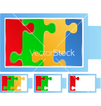 Free puzzle battery vector - Free vector #243493