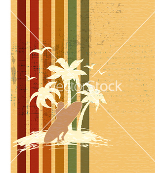 Free retro summer background vector - бесплатный vector #243563