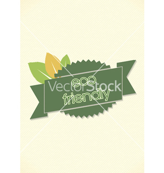 Free eco friendly label vector - Kostenloses vector #243663