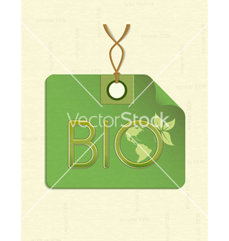 Free bio shopping tag vector - Free vector #243673