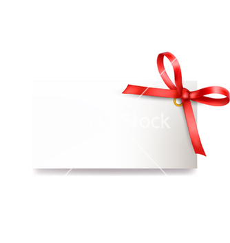 Free card with red bow vector - Free vector #243713