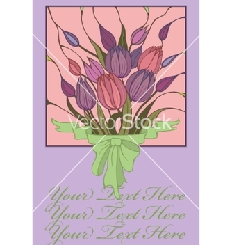 Free postcard with bouquet vector - vector gratuit #243763