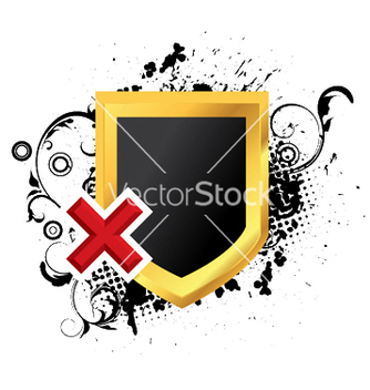 Free gold shield with grunge vector - Kostenloses vector #244093