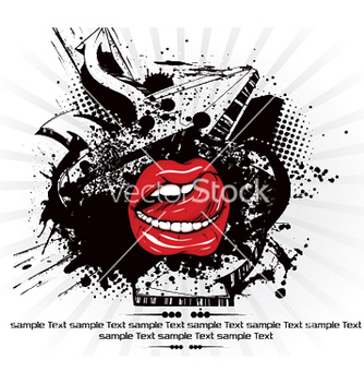Free mouth with grunge vector - Free vector #244103