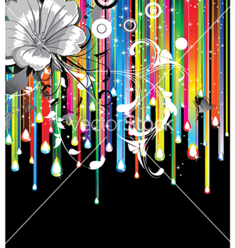 Free floral background with rainbow vector - Kostenloses vector #244193