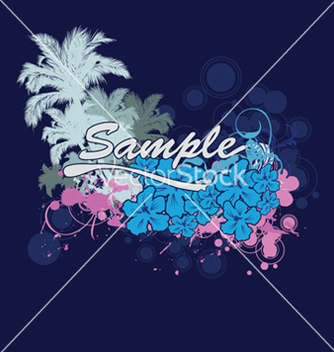 Free vintage summer background with palm trees vector - Free vector #244213
