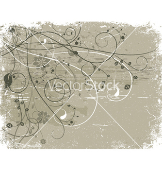 Free grunge floral background vector - vector gratuit #244353