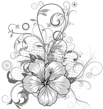 Free abstract flower with circles vector - vector #244393 gratis