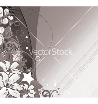 Free abstract floral wallpaper with wave vector - Free vector #244563